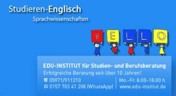 Englisch studieren heißt die Welt zu verstehen!