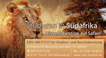 Studieren in Südafrika…