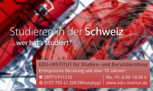 Studieren in der schweiz for Medizin studieren schweiz