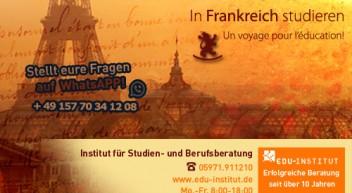 Studieren in Frankreich…
