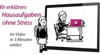 """Handgezeichneter Erklärfilm """"Hausaufgaben ohne Stress"""""""