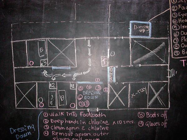 Skizze der Isolationsstation