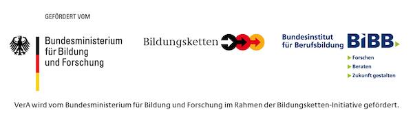 Logoleiste VerA Bildungsketten 2012 quer