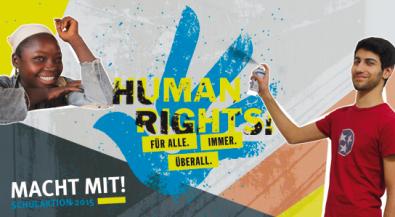"""Aktionswettbewerb 2015 """"Human Rights! Für alle. Immer. Überall."""""""