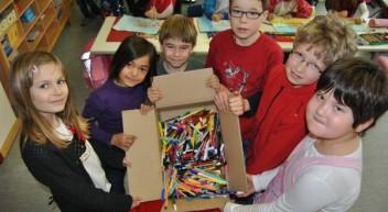 Recyclingwettbewerb: Alte Stifte gegen Sitzgelegenheit in der Sonne tauschen