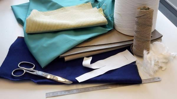 Bild von verschiedenen textilen Materialen. | Foto: Privat