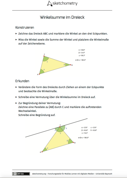 Mobiles Lernen mit digitalen Medien — Unterrichten mit sketchometry ...