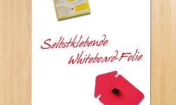 Whiteboard-Folie, selbstklebend + magnethaftend