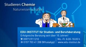 Chemie studieren heißt auf den Spuren großer Forscher zum Erfolg!