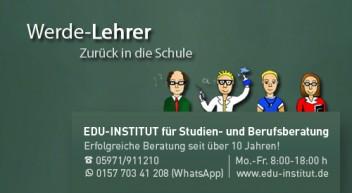 Werde Lehrer…