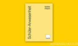 TimeTEX Heft Schüler-Anwesenheit A4  (hellgelb)