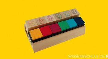 Set Holz Lehrer-Stempel 6-tlg.