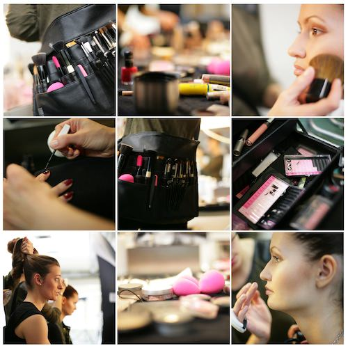 Collage Make-Up & Hair Color