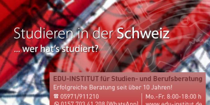 Studienwahl archive seite 5 von 8 for Medizin studieren schweiz