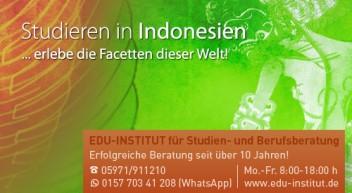 Studieren in Indonesien…