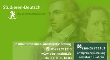 Deutsch studieren…