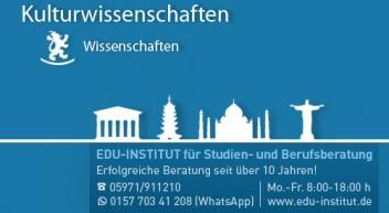 Willkommen auf der Infoplattform zum Studium Kulturwissenschaften