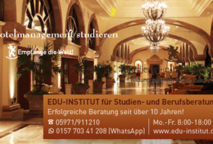 Willkommen auf der Infoplattform zum Hotelmanagementstudium!