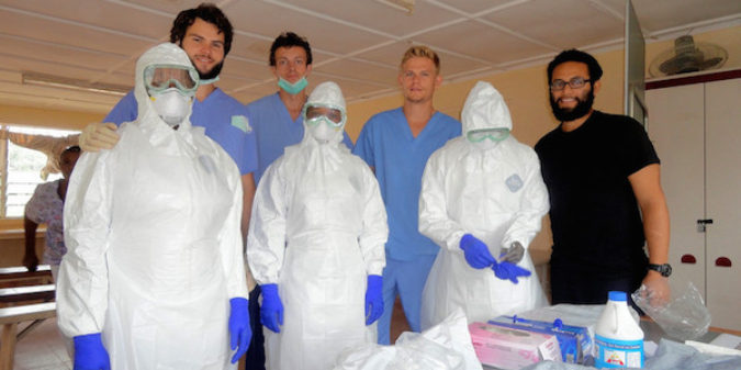 Medizinstudenten bauen Ebola-Isolationsstation in Sierra Leone