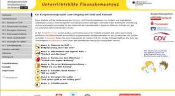 Unterrichtshilfe Finanzkompetenz