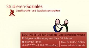 Studieren Soziales: Gesellschafts- und Sozialwissenschaften