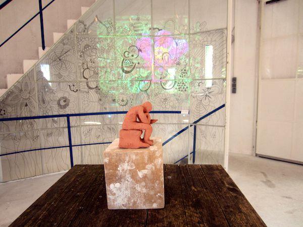 Arbeiten von Lucca Mattheus und Carolin Kutasi in der Ausstellung