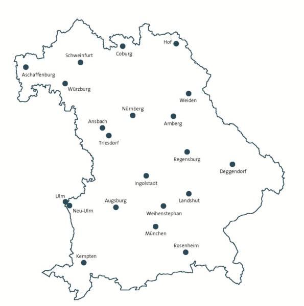 Bayern v6_1 Orte 9pt Kreise weiß blaue Linie mit Karte