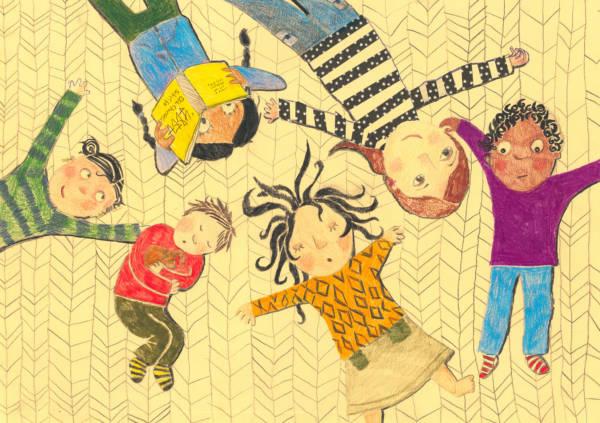 """Bildtitel: """"Meine Tante hilft Flüchtlingskindern"""" Greta D., 10 Jahre, 5. Klasse, aus Bovenden Bild eingereicht bei der Volksbank Göttingen eG"""
