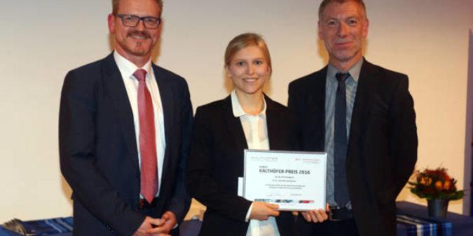Jennifer Gommans jüngste Preisträgerin des Ewald-Kalthöfer-Preises