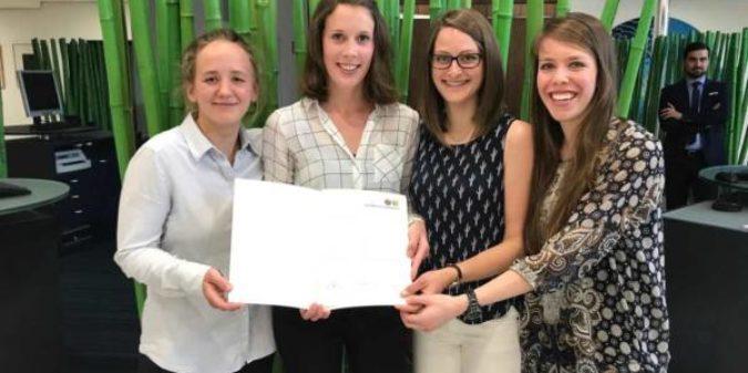 Studierende der Hochschule Niederrhein mit Preis für ehrenamtliches Engagement ausgezeichnet