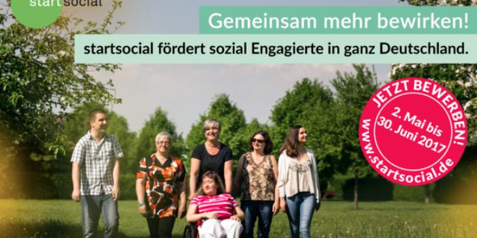 Ausschreibung: 100 Beratungsstipendien von startsocial für soziale Initiativen