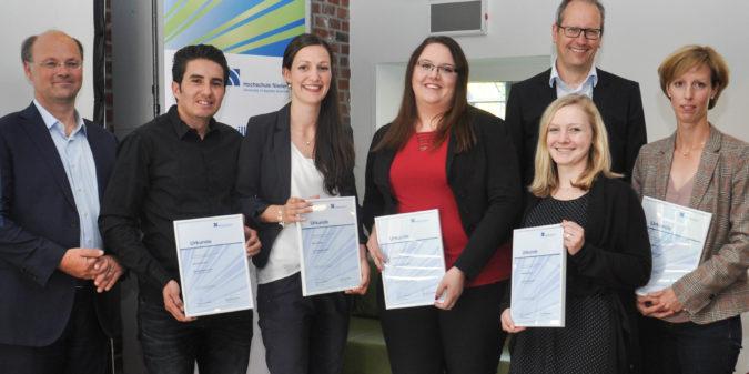 Hochschule Niederrhein würdigt das Engagement ihrer  Tutorinnen und Tutoren