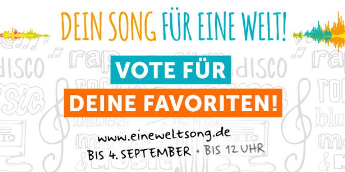 """Aufruf zum Online-Voting beim Song Contest """"Dein Song für EINE WELT!"""""""