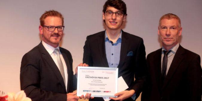Ewald-Kalthöfer-Preis für beste Abschlussarbeit am Fachbereich Elektrotechnik und Informatik verliehen