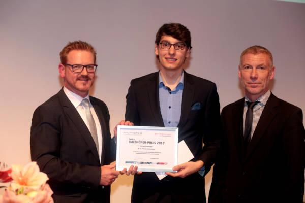 Preisträger Florian Kretschmer mit Ewald Kalthöfer.