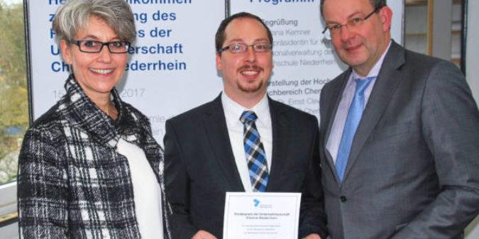 Sonderabfallverbrennung optimiert: Chemie-Absolvent der Hochschule Niederrhein erhält Förderpreis