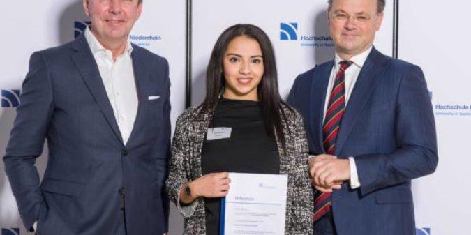 Hochschule Niederrhein akquiriert 200. Deutschland-Stipendium
