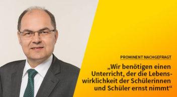 5 Fragen – 5 Antworten mit Christian Schmidt