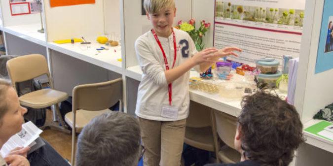 Regionalwettbewerb Jugend forscht/Schüler experimentieren am 23. Februar 2018 an der TH Bingen.