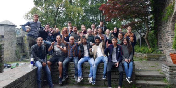 Wittener Studierende sprechen nicht über, sondern mit Flüchtlingen