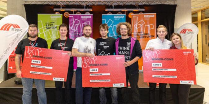 Digitale Lösungen in 24 Stunden entwickelt: Erster Krefelder Hackathon war großer Erfolg