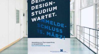 Anmeldeschluss für Studieninteressierte am Fachbereich Design