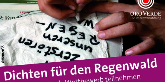 """Schüler-Wettbewerb """"Regenwald-Lyrik"""" – noch bis 15. September 2020 teilnehmen"""